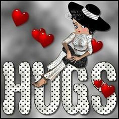 ♥️ BETTY BOOP..... HAPPY VALENTINE DAY !!! Betty Boop says Hugs!!!                                                                                                                                                      More