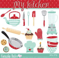 My Kitchen Personal and Commercial Use Clip by corazondulce