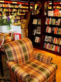 A comfy chair & books galore...need I say more?