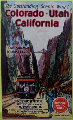 """Vintage 1933 Missouri Pacific Lines train postcard """"the old reliable"""" """"the…"""