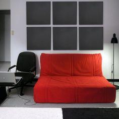 acoustic ceiling tile design in black media room interior idea
