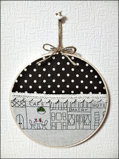 cute embroidery hoop decor