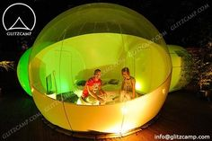 Children Dome - Camping Geodome Tent - Inflatable Bubble Tent http://www.glamping-tent.com/portfolio_page/outdoor-bubble-tent-under-the-starry-sky/