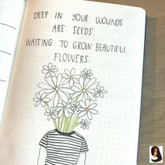 journal ideas layout weekly easy Bullet journal quote page, flower drawing. March Bullet Journal, Bullet Journal Quotes, Bullet Journal Ideas Pages, Bullet Journal Layout, Bullet Journal Inspiration, Journal Pages, Bullet Journals, Stabilo Boss Original Pastel, Monster Coloring Pages