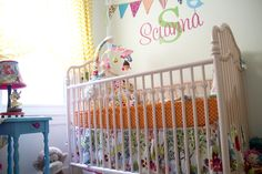 Project Nursery - Pink Metal Baby Crib