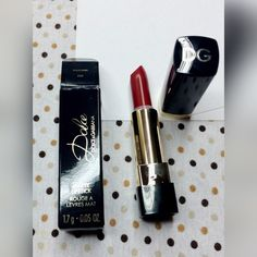 Dolce & Gabana matte lipstick deluxe sample red Deluxe sample size. Swatched once. 1.7g. Boxed. Color is dolce desire Dolce & Gabbana Makeup Lipstick