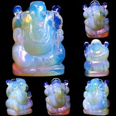 440 Ct Opal Ganesh Statue Hand Carved Yoga Meditation Top Quality & Clarity 54mm