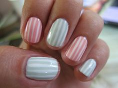 Love these light stripes - Don't forget about #manimonday tomorrow!! Send us your mani's and enter for a chance to be mentioned and showcase your new mani!!! style@shopexcessbaggage.com