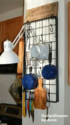 DesignDreams by Anne: pot racks aren't just for ceilings!!!