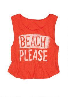 Beach Please Tank - Graphic Tees - Clothing - dELiA*s