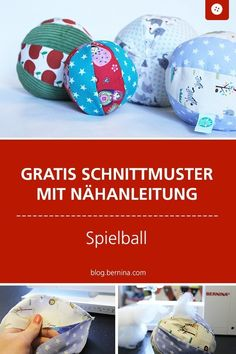Instructions and patterns: Baby Ball - Nähen für Baby & Kind - Baby Diy Sewing Patterns Free, Free Sewing, Baby Patterns, Free Pattern, Pattern Sewing, Pattern Ideas, Clothes Patterns, Baby Crafts, Diy And Crafts