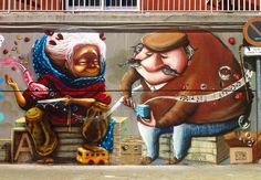 Street Art by Animalito + Alto, located in Madrid, Spain