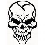 Buy Cool Skull Vinyl Decal Sticker Cracked Human Head Skull Motorcycle Stickers Moto Decals helmet Stickers Decoration at Wish - Shopping Made Fun Skull Stencil, Totenkopf Tattoos, Skull Artwork, Skull Drawings, Skull Tattoos, Art Tattoos, Window Stickers, Pyrography, Skull Art