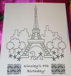 Color sheet- paris party