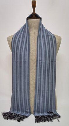 Gray and Blue Soft Men's Scarf, Blue and Gray Scarf, Blue and Gray Soft Women Scarf, Crinkly Cotton Unisex Scarf - SC304 #handmadeatamazon #nazodesign
