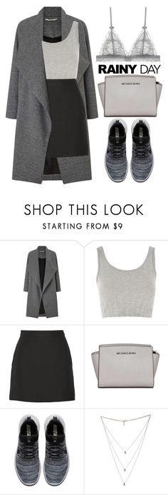 """""""Rainy day"""" by theapapa ❤ liked on Polyvore featuring Miss Selfridge, Topshop, Valentino, MICHAEL Michael Kors, NIKE and Isabel Marant"""