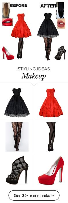 """Good girl Gone bad"" by melodey27 on Polyvore featuring Gipsy, Christian Louboutin, Prada and Charlotte Tilbury"