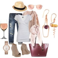 Wine Tasting Outfit for Fall/ Click For Outfit Details via Aziza Jewelry