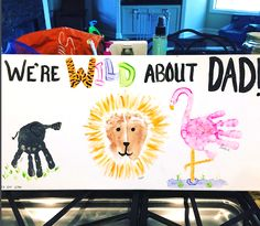 Looking for something cute and budget friendly to make for dad for Father's Day? Check out these Father's Day Handprint and Footprint Craft Ideas. Dad Crafts, Fathers Day Crafts, Happy Fathers Day, Preschool Crafts, Crafts For Kids, Summer Crafts, Holiday Crafts, Kids Canvas Art, Canvas Crafts