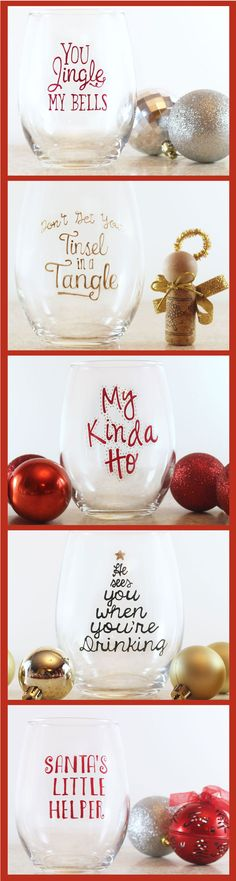 The Cutest Christmas Wine Glass Set
