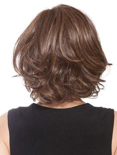 Stunning medium length haircut on dark brown layered hair Medium Hair Cuts, Short Hair Cuts, Medium Hair Styles, Curly Hair Styles, Natural Hair Styles, Synthetic Lace Front Wigs, Synthetic Wigs, Short Hair With Layers, Bob Hairstyles