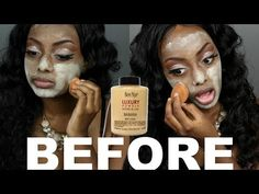 DOES IT REALLY WORK? - POWDER BEFORE FOUNDATION TECHNIQUE + MAKEUP TUTORIAL | DIMMA UMEH - YouTube