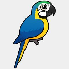 Cute Birdorable Blue-and-yellow Macaw, also known as Blue-and-gold Macaw, in Parrots & Parakeets. The Blue-and-yellow Macaw is a member of the macaw group of Green Wing, African Grey Parrot, Blue Wings, Conure, Cockatiel, Cute Birds, Bird Design, Parakeet, Art Sketchbook