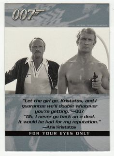 James Bond - The Quotable # 48 - For Your Eyes Only