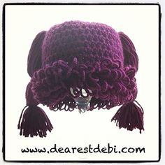 Get a head start on halloween and turn your baby into a Cabbage Patch kid, there's 3 styles of patterns to choose from on my blog. http://dearestdebi.com/crochet-cabbage-patch-kid-newborn-beanie