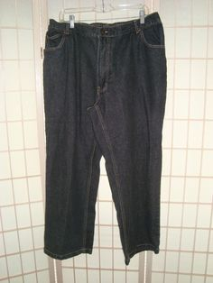 Duke Haband Sz 40 x 28 Men's Relaxed Fit Blue Jeans 5 Pockets #DukeHaband #Relaxed