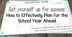 Now is the time to start planning for next school year.  Here are some tips to help you get started!