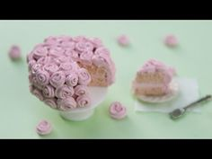 ▶ How to Make a Polymer Clay Rose Cake! - YouTube
