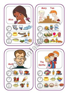 Food Cards (Part 1 out of 5) worksheet Vocabulary Flash Cards, Vocabulary Worksheets, English Tips, English Class, Food Cards, English Exercises, Teaching Activities, Recipe Cards, Teaching English