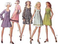 Cute Little Vintage Dress Pattern 1969 Brady by DorothysRubies Vintage Outfits, Vintage Dresses 1960s, Vintage Dress Patterns, Clothing Patterns, Vintage Fashion, 1960s Fashion Dress, Vintage Clothing, Moda Vintage, Vintage Mode