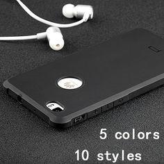 Teléfono case para huawei p8 lite de alta calidad ultra delgada de silicio protector duro de la contraportada para huawei p8 lite cubierta del teléfono móvil