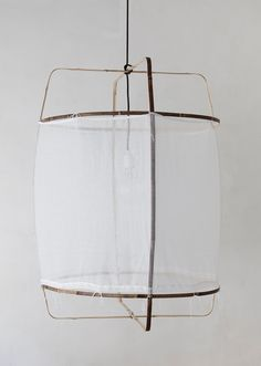 Designed by Nelson Sepulveda for Netherlands-based lighting company Ay Illuminate, the Z1 Cotton Lamp is made of bamboo and cotton; $520.51 at Bodie & Fou. A variation on the design, also from Ay Illuminate, is the Z5 Lamp with a handwoven khadi cover for $450 at Lost & Found.