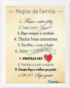Quadro - Regras Familia
