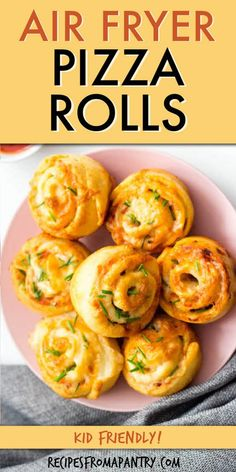 These easy to make home made air fryer pizza rolls are the perfect way to satisfy those pizza cravings! Serve them up as a kid-friendly snack, game day party appetizer, or pair with a salad for a complete meal. Making pizza rolls in the air fryer is healthier than the store-bought or deep-fried versions. Easily customizable to suit your taste. You'll love this recipe for air fryer pizza roll up! Oven instructions also included. #pizzarolls #airfryerpizzarolls #airfryer #airfryerrecipes… Easy Potluck Recipes, Air Fryer Dinner Recipes, Air Fryer Recipes, Vegan Recipes Easy, Easy Meals, Kid Recipes, Pizza Recipes, Snack Recipes, Pizza Roll Up