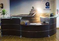 GulfMark Reception Mural, Aberdeen Office