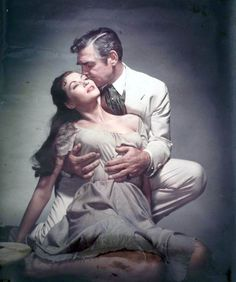 BAND OF ANGELS (1957) - Clark Gable & Yvonne De Carlo - Directed by Raoul Walsh - Warner Bros. - Publicity Still.