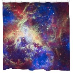 Your bathroom will be out of this world with this high-quality shower curtain that features the unbelievable new image from the Hubble Space Telescope. This shower curtain is printed in the US on 100-percent polyester.
