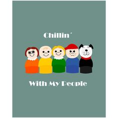 VINTAGE FISHER PRICE Printable poster Chillin' with my people. More Colourful and Retro Printables for Kids Room or Nursery Wall Art please visit  LetuvePosters.