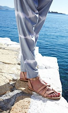 Greek Sandals - Plümo Ltd Roman Sandals, Greek Sandals, Summer 2014, Spring Summer, Head To Toe, Lace Up, Flats, My Style, Inspiration