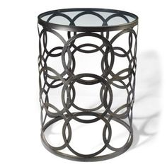 Cirra Metal Table - Next to the armchair and ottoman?