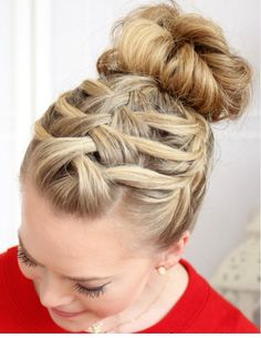 Triple French braid waterfall. I dig  from @britco