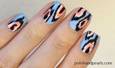 {ikat print nails} with a video tutorial!