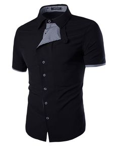 NOVA SEMANA, NOVAS CAMISAS -CAMISA CASUAL MANGA CURTA DETALHE XADREZ - ABOTOADURA DUPLO MODERNA - EM BRANCO E PRETO- www.CamisetasImportadas.com👔 #Camisa #Camisas #CamisasImportadas #CamisetasImportadas #ModaMasculina #ModaHomens #Moda2016 #Fashion #FashionMen #MenFashion #Fashion2016 #LookDoDia #OOTD #OOTN