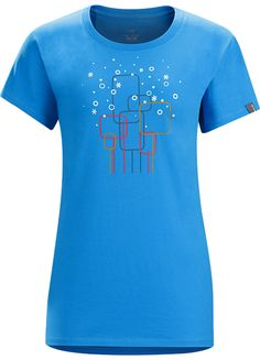 Falling Snow T-Shirt Women's Women's cotton T-shirt with a fun graphic of geometric trees and falling snow.