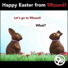 """Happy Easter from everyone at 9Round!  We hope that ALL of our 9Rounders enjoy their day!   Try not to indulge in TOO much chocolate and get ready to """"hop"""" back into your fitness routine tomorrow!    #9Round #Easter #9Rounder #GetFit #GetHealthy #Fitness"""