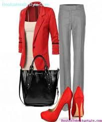 Red grey taupe black